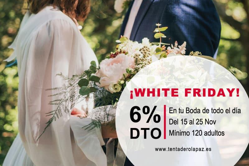 White Friday: descuento en TU Menú de Boda